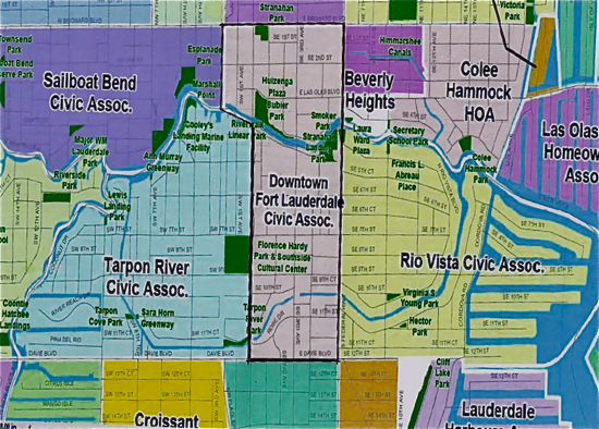 Boundary Map Downtown Fort Lauderdale Civic Association